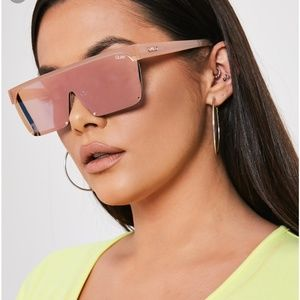Quay Australia shade queen sunglasses benefit pink